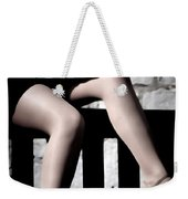 On A Bench Weekender Tote Bag