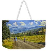 On A Country Road Weekender Tote Bag