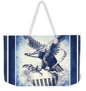 On Eagles Wings Blue Weekender Tote Bag