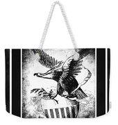 On Eagles Wings Bw Weekender Tote Bag