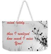On My Mind Weekender Tote Bag