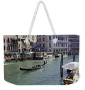 On The Canal In Venice Weekender Tote Bag