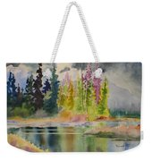On The Colourful Pond Weekender Tote Bag