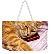 On The Phone Weekender Tote Bag