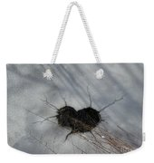 On The River. Heart In Ice 03 Weekender Tote Bag