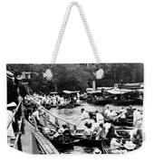 On The River Thames - Waiting For The Locks To Open - C 1902 Weekender Tote Bag