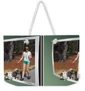 On The Trail - Gently Cross Your Eyes And Focus On The Middle Image That Appears Weekender Tote Bag