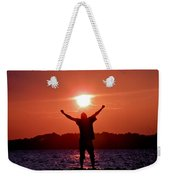 On Top Of The World Weekender Tote Bag by Trish Tritz