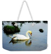 One Foot At Ease Swan Weekender Tote Bag