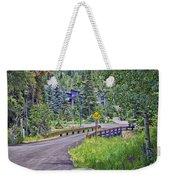 One Lane Bridge - Vail Weekender Tote Bag