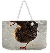 One-legged Duck Weekender Tote Bag