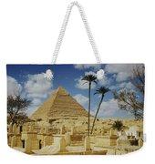 One Of The Pyramids Seen Behind An Arab Weekender Tote Bag