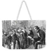 One-room Schoolhouse, 1874 Weekender Tote Bag by Granger