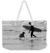 One Surfer And His Dog Weekender Tote Bag