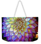 Open For Pleasure Flowart Weekender Tote Bag