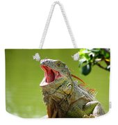 Open Mouth Iguana Weekender Tote Bag