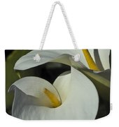 Open White Calla Lily Weekender Tote Bag