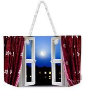 Open Window At Night Weekender Tote Bag