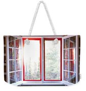 Open Window In Cottage Weekender Tote Bag by Elena Elisseeva