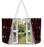 Open Window To A Church Garden Weekender Tote Bag