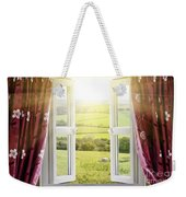 Open Window With Countryside View Weekender Tote Bag