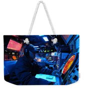 Operations Specialist Stands Watch Weekender Tote Bag by Stocktrek Images