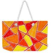 Orange Abstract Weekender Tote Bag