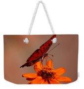Orange Butterfly Orange Flower Weekender Tote Bag