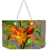 Orange Day Lily Weekender Tote Bag