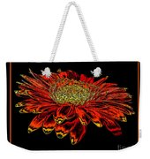 Orange Gerbera Daisy With Chrome Effect Weekender Tote Bag