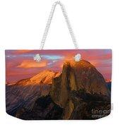 Orange Half Dome Weekender Tote Bag