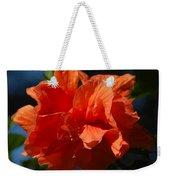 Orange Hibiscus Weekender Tote Bag
