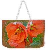 Orange Hibiscus Flowers Weekender Tote Bag