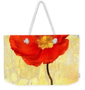 Orange Iceland Poppy On Yellow And Blue Weekender Tote Bag