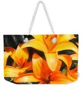 Orange Lilies Weekender Tote Bag