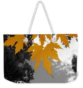 Orange Maple Leaves Weekender Tote Bag