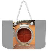 Orange Moon Door Weekender Tote Bag