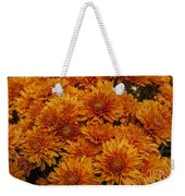 Orange Mums Weekender Tote Bag