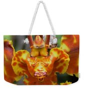 Orange Orchid Clown Weekender Tote Bag