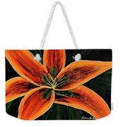 Orange Oriental Lily Weekender Tote Bag