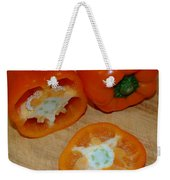 Orange Peppers Weekender Tote Bag