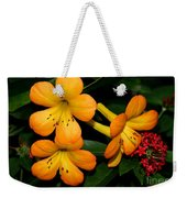 Orange Rhododendron Flowers Weekender Tote Bag