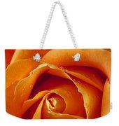 Orange Rose Close Up Weekender Tote Bag by Garry Gay