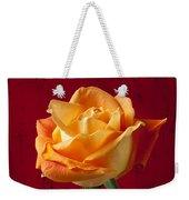 Orange Rose In Red Pitcher Weekender Tote Bag