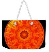 Orange Rose Kaleidoscope Under Glass Weekender Tote Bag