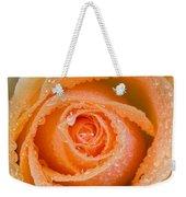 Orange Rose With Dew Weekender Tote Bag
