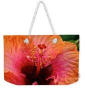 Orange Sherbert Hibiscus Weekender Tote Bag