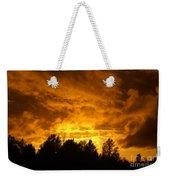 Orange Stormy Skies Weekender Tote Bag