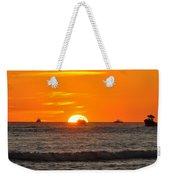 Orange Sunset V Weekender Tote Bag
