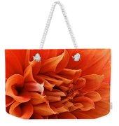 Orange Vanilla Dahlia Weekender Tote Bag